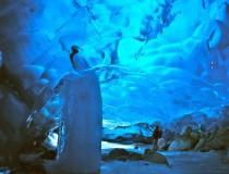 El Glaciar Mendenhall, las espectaculares cuevas de hielo en Alaska