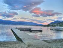 Lago Okanagan en Canadá