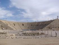 Ruinas romanas en la antigua ciudad de Cesárea