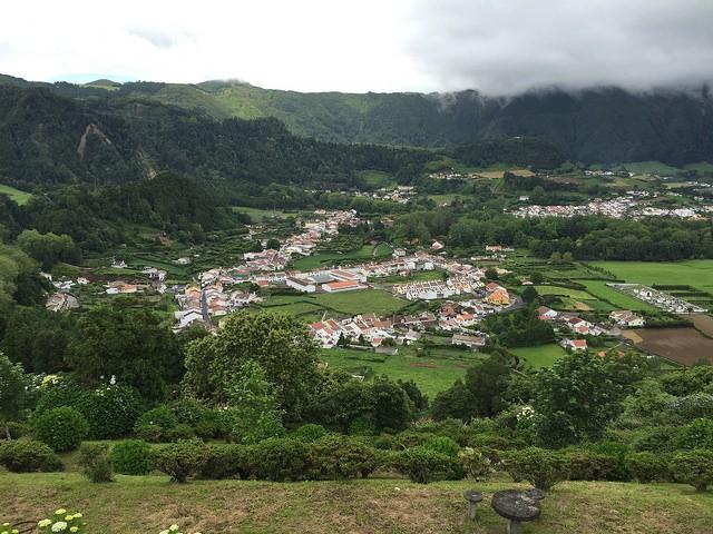 Vistas de Furnas, un pueblo de la Isla de San Miguel, en las Azores