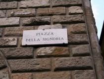 La Plaza de la Señoría, en Florencia
