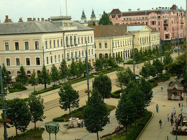 Market Street en Debrecen