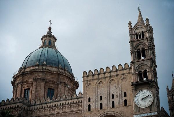 Vistas de la Catedral de Palermo, uno de los principales monumentos de Sicilia