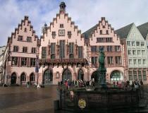 La plaza Romerberg, en el corazón de Frankfurt