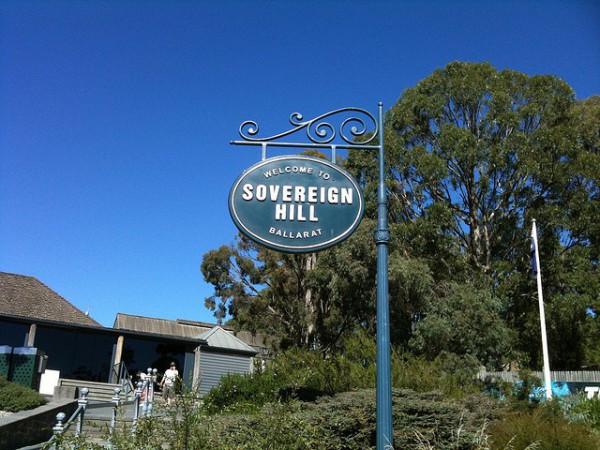 Sovereign Hill es un pueblo minero reconstruido