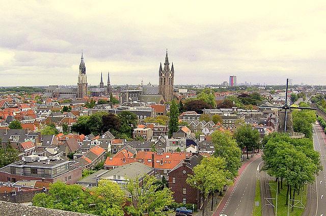 Molino de Roos en Delft