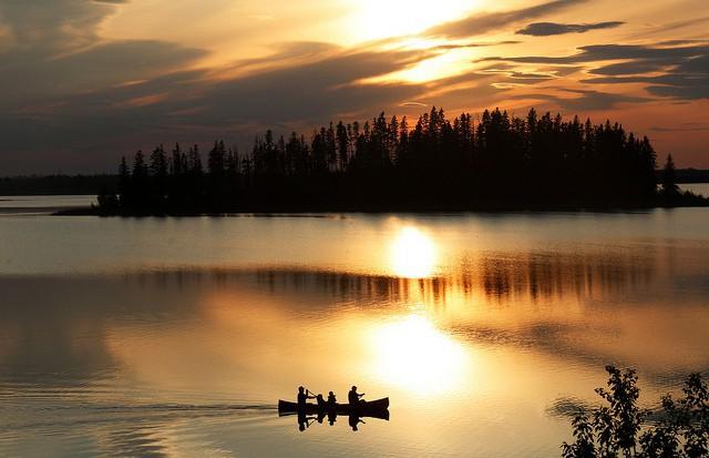 Lago Astotin en Edmonton