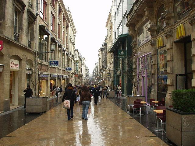 Rue Sainte-Catherine en Burdeos