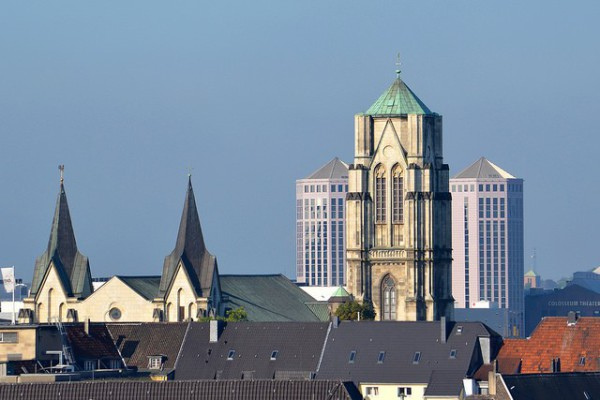 Vistas de Essen, una de las grandes ciudades industriales
