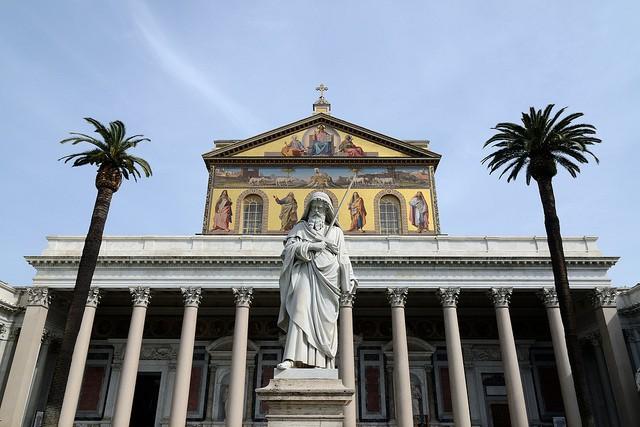 La Basílica de San Pablo es una de las iglesias más antiguas de Roma