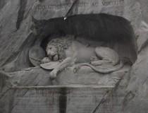 El león de Lucerna, una de las esculturas más famosas de Europa