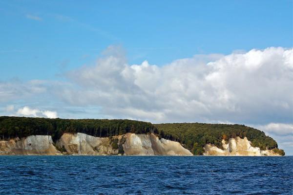 Los famosos acantilados blancos de la Isla de Rügen