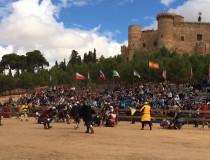La Competición de Combate Medieval que se celebra en el Castillo de Belmonte, en Cuenca