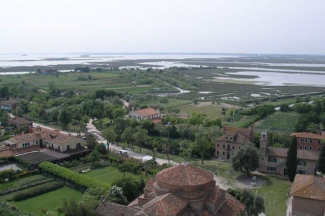 La isla de Torcello vista desde un campanario