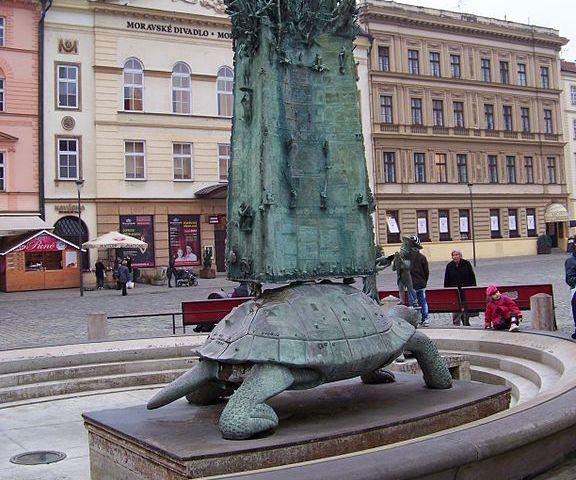 Fuente de Arión en Olomouc