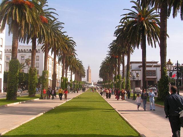 Jardín botánico de  Essais en Rabat