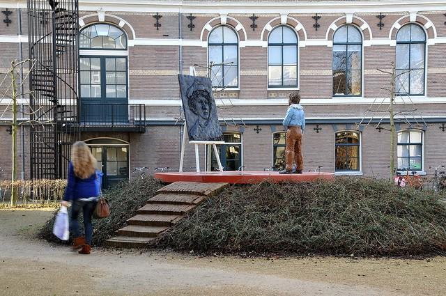Plaza de Rembrandt en Leiden