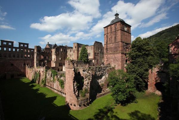 El Castillo de Heidelberg, parcialmente en ruinas