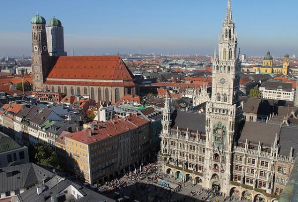 La Marienplatz es la foto más famosa de Munich