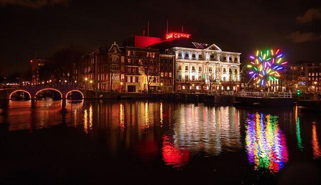Light Festival de Amsterdam en Navidad
