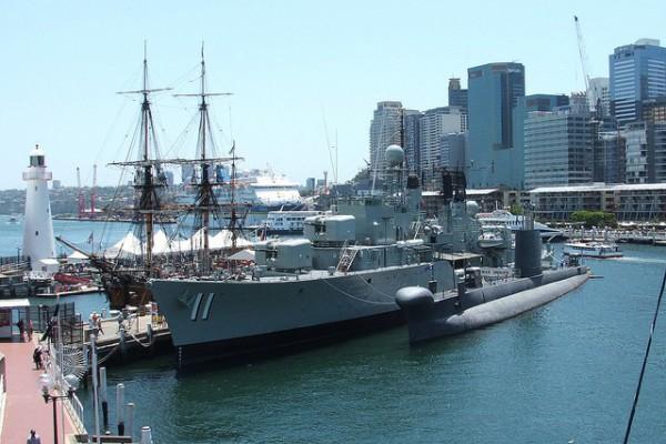 Barcos en el Museo Marítimo de Sidney
