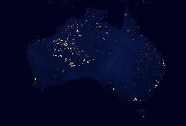 Australia vista desde el espacio
