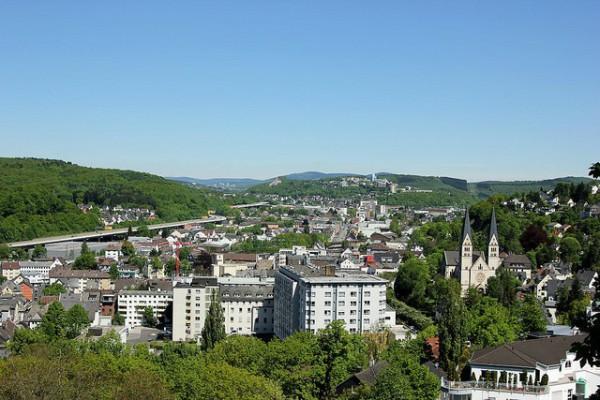 Vistas de Siegen, al sur de la región de Westfalia