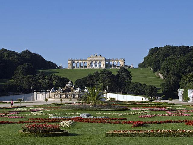 Jardín Schonbrunn en Viena