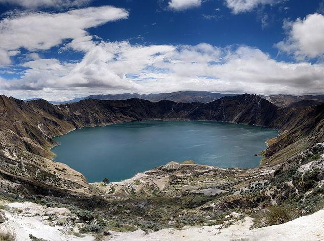 Lago Quilotoa en Ecuador