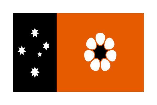 La bandera del Territorio del Norte se sale un poco de lo común