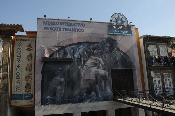Entrada al World of Discoveries, un museo interactivo en Oporto