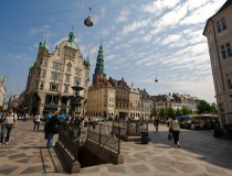 Stroget Street, calle de compras en Copenhague
