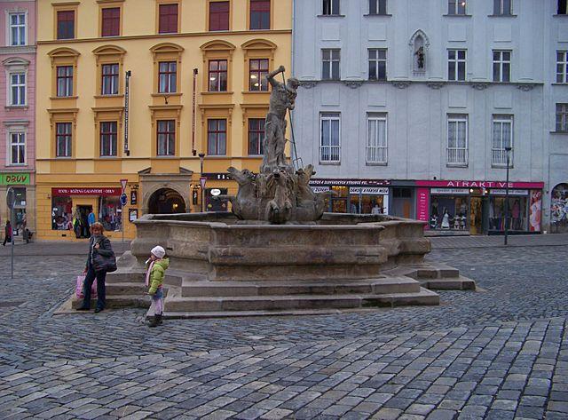 Fuente de Neptuno en Olomouc