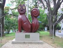 Escultura del Gato de Tejada en Cali
