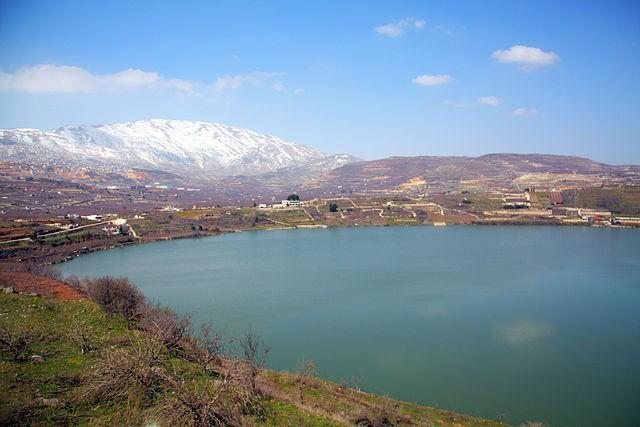 Lago Ram en Israel