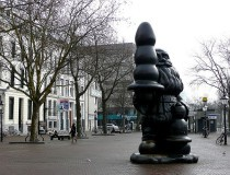 Estatua de Santa Claus en Rotterdam
