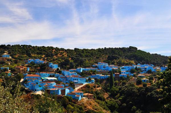 Júzcar, el pueblo de Málaga que quiso ser Pitufo