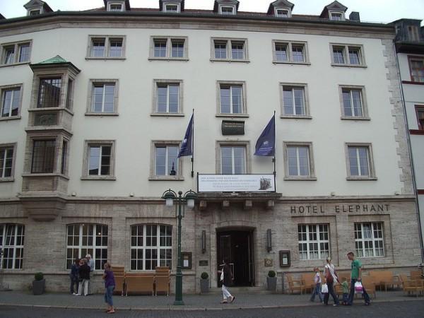 El Hotel Elephant es el alojamiento más famoso de Weimar