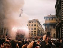 Scoppio del Carro, tradición de Semana Santa en Florencia