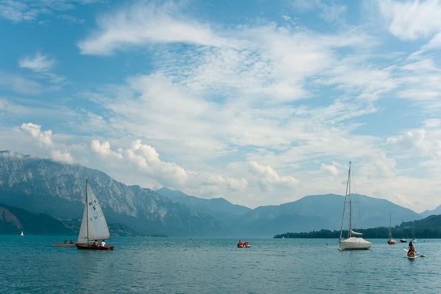 Lago Attersee de Austria