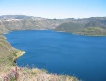 Laguna Cuicocha en Ecuador