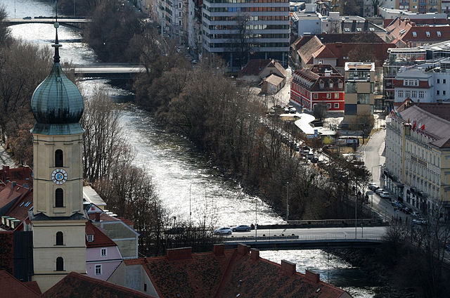 Río Mura en Austria