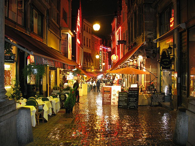 Calle de Bouchers en Bruselas