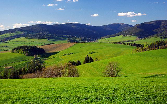 Sendero de las nubes de Moravia