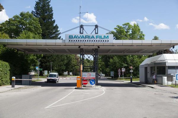 Entrada a Bavaria Filmstadt, grandes estudios de cine en Munich