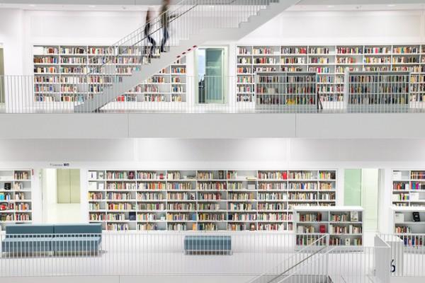 La biblioteca de Stuttgart es un edificio innovador