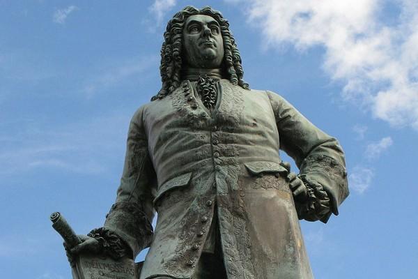 Estatua de Händel en Halle