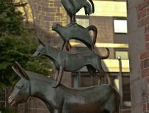 La estatua de los Músicos de Bremen