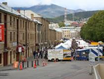 Salamanca Place, corazón de la vida cultural de Hobart