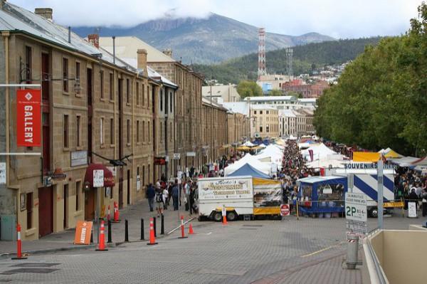 Salamanca Place es uno de los lugares más famosos de Hobart